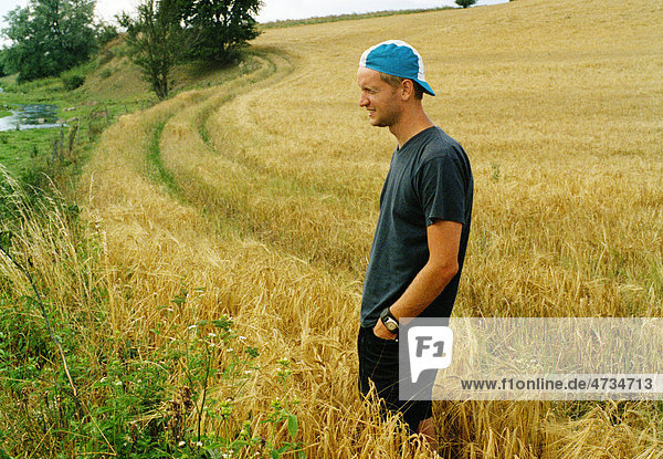 Landwirt im Feldanbau