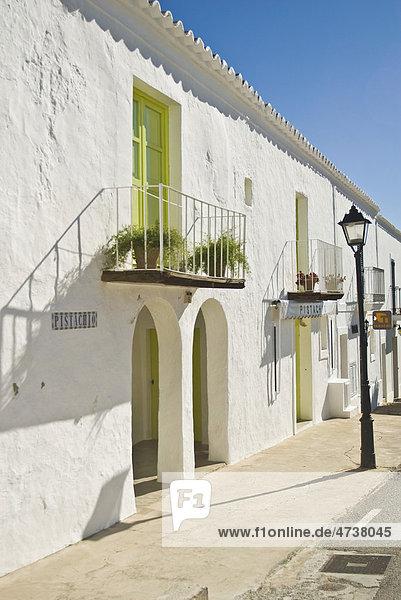Fassaden  traditionelle ibizianische Architektur  San Miguel  Ibiza  Spanien  Europa