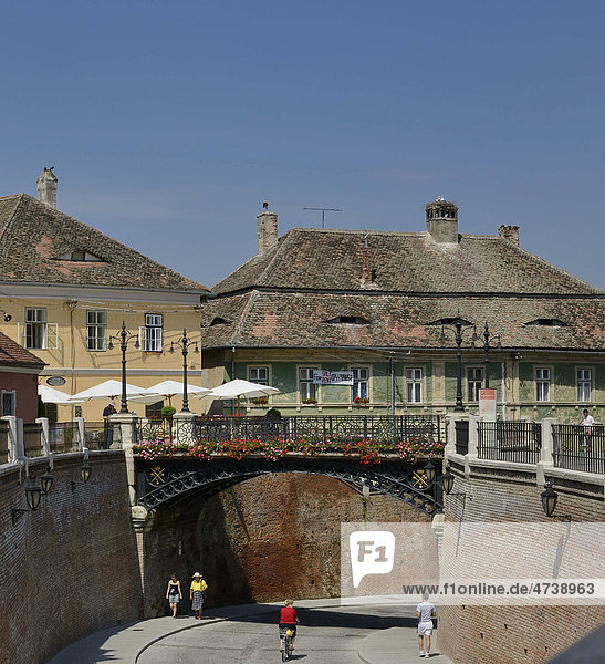 Liars' Bridge at Piata Mica Square  Sibiu  Romania  Europe