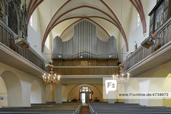 Orgel in der Kirchenburg von Cisnadie  Heltau  Rumänien  Europa