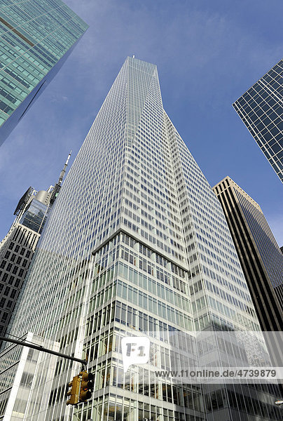 Wolkenkratzer am Times Square  Manhattan  New York City  New York  Vereinigte Staaten von Amerika  USA  Nordamerika
