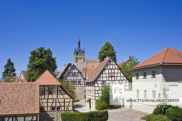 Altstadt mit Blauer Turm  Bad Wimpfen  Neckartal  Baden-Württemberg  Deutschland  Europa