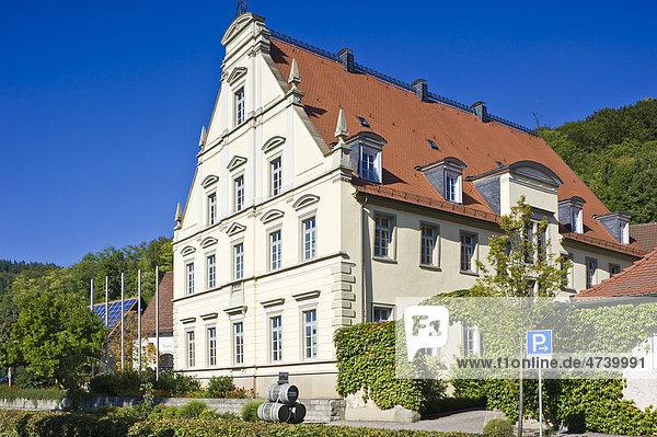 Neues Schloss Rathaus  Neckarzimmern  Neckartal  Baden-Württemberg  Deutschland  Europa