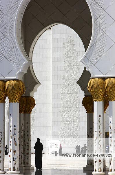 Schaich-Zayid-Moschee  Abu Dhabi  Vereinigte Arabische Emirate  Naher Osten