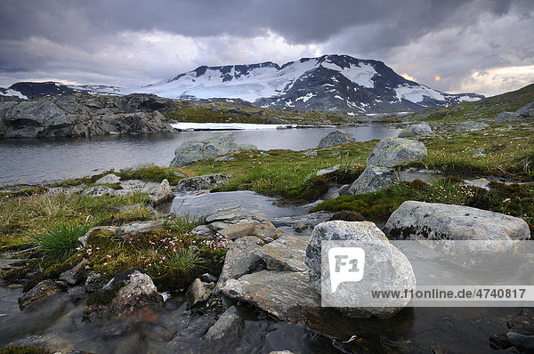 Berglandschaft im Jotunheimen Nationalpark  Norwegen  Europa