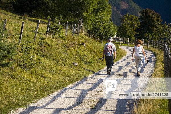 Wanderer  Wanderweg  Südtirol  Italien  Europa