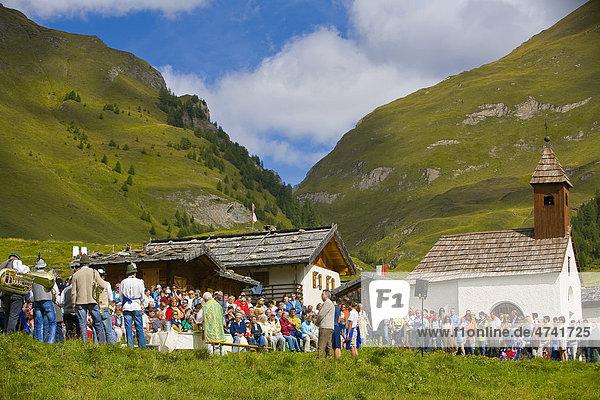Messfeier  Feldmesse  Gottesdienst auf Alm  Südtirol  Italien  Europa Messfeier, Feldmesse, Gottesdienst auf Alm, Südtirol, Italien, Europa