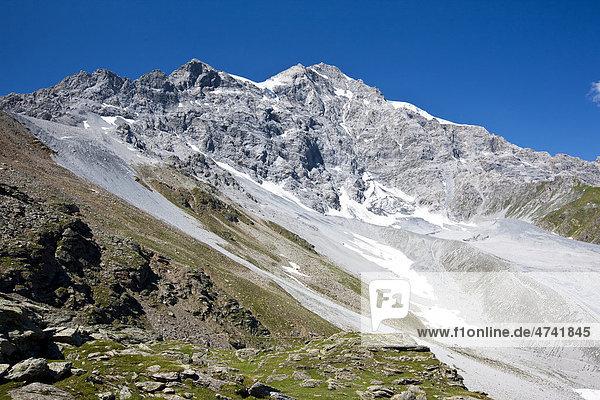 Angelusspitze im Ortlergebiet  Bergmassiv  Südtirol  Italien  Europa