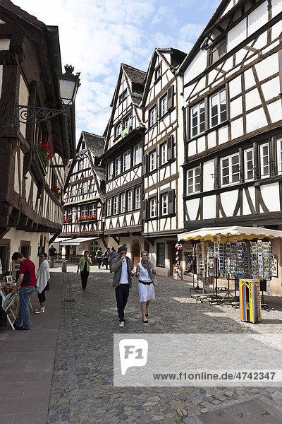 Gerberviertel  Petite France  Straßburg  Elsass  Frankreich  Europa