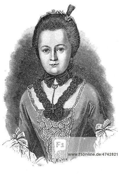 Käthchen Schönkopf  historische Abbildung aus Deutsche Literaturgeschichte von 1885