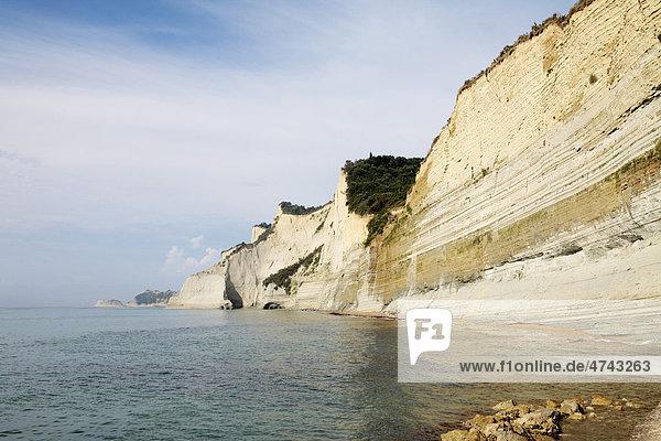 Küste  Sunset Beach  Peroulades  Korfu  Griechenland  Europa