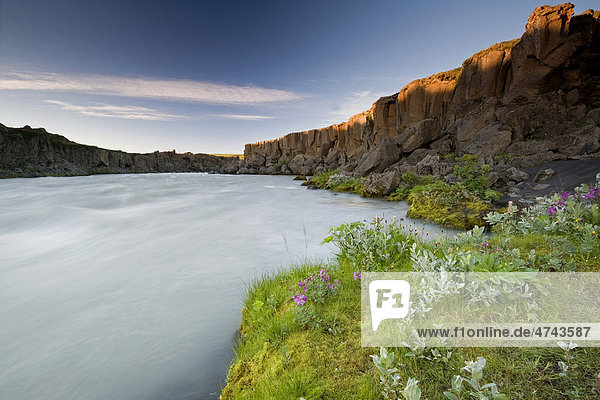 The Go_afoss waterfall in Myvatn  northern Iceland  Iceland  Europe