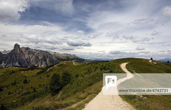 Hochplateau von Piz la Villa bei Alta Badia  Dolomiten  Südtirol  Italien  Europa