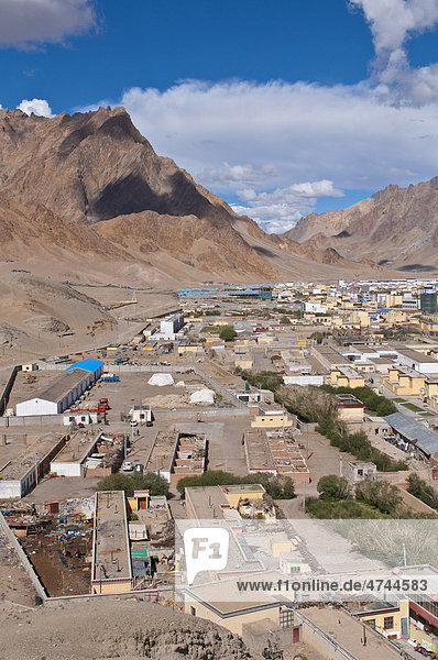 Der Ort Ali  Shiquanhe  westlichste Stadt von Tibet  Asien