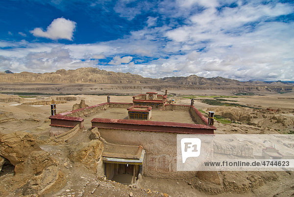 Region of the ancient kingdom of Guge  Western Tibet  Tibet  Asia