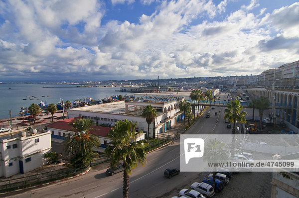 Blick über Algier  Algerien  Afrika
