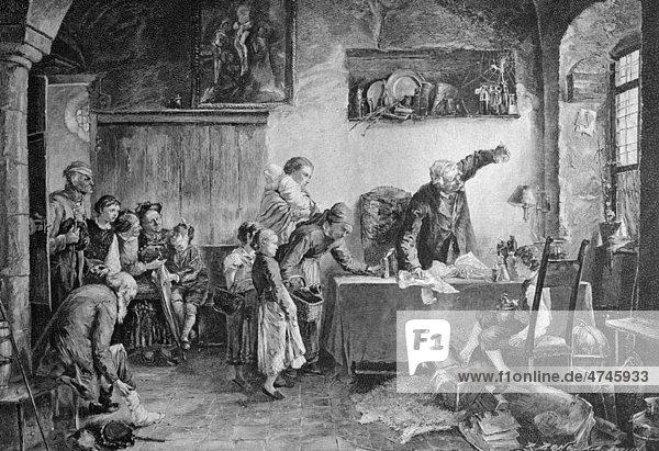 Beim Wunderdoktor  historisches Bild  ca. 1893