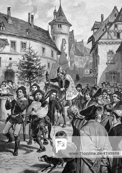 Der Urbansritt in Nürnberg  Bayern  Deutschland  historisches Bild  ca. 1893