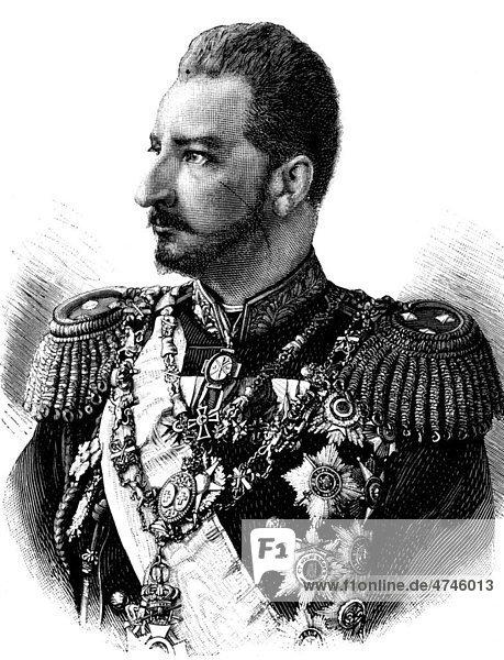 Fürst Ferdinand von Bulgarien  1861 - 1948  Fürst und König von Bulgarien  historisches Bild  ca. 1893