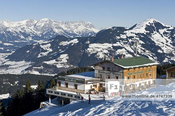Blick vom Markbachjoch in Niederau  Österreich  Europa