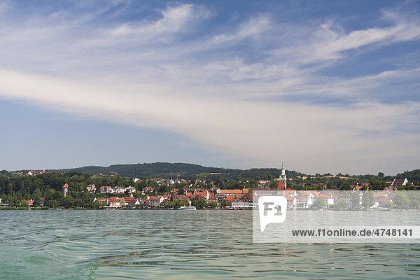 Überlingen vom Bodensee aus  Baden-Württemberg  Deutschland  Europa