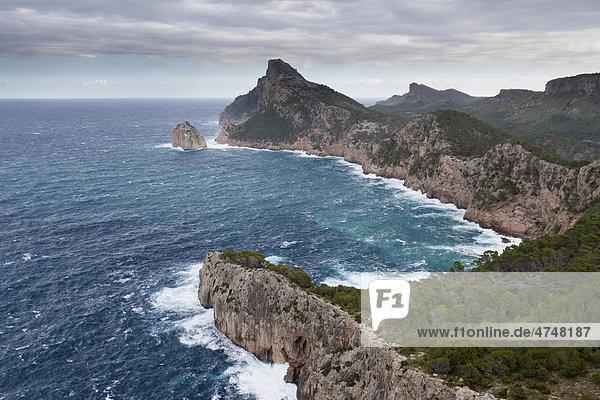 Cap de Formentor  der nördlichste Punkt Mallorcas  Mallorca  Balearen  Spanien  Europa