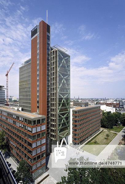 Bürogebäude Atlantic Haus  Hamburg  Deutschland  Europa