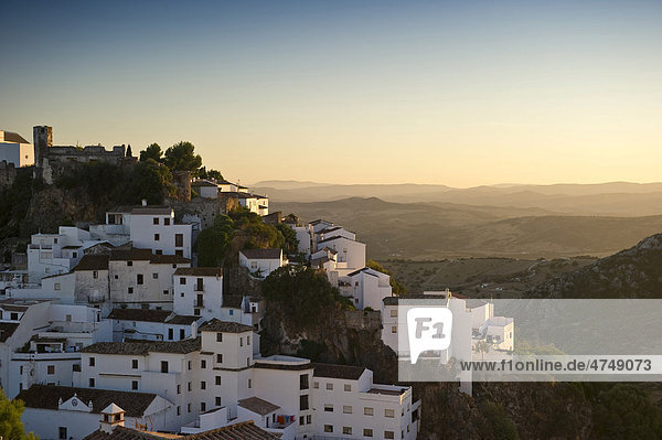 Casares  white village in Marbella  Andalucia  Spain  Europe