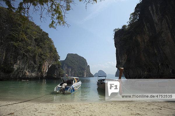 Hong Islands  Pakbia Island  Hong Lagoon  Rai Island  Phang Nga National Park  Ao Nang  Krabi Province  Thailand  Asia