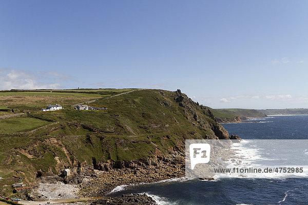Küste am Cape Cornwall  Cornwall  England  Großbritannien  Europa