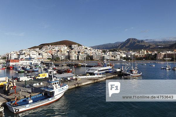Fischerhafen  Los Cristianos  Teneriffa  Kanaren  Spanien  Europa