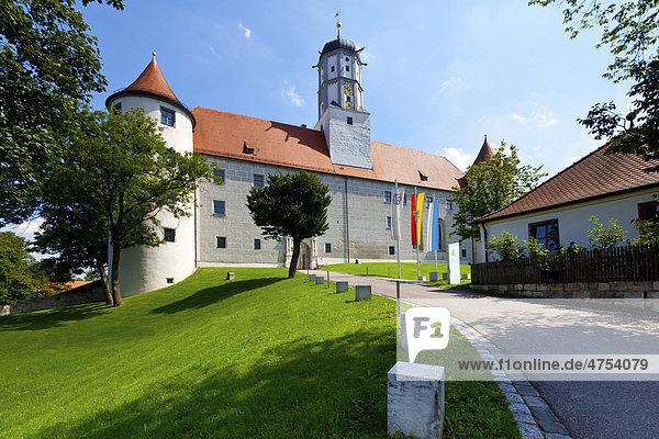 Schloss Höchstädt in Höchstädt an der Donau  Dillingen  Landkreis Schwaben  Bayern  Deutschland  Europa