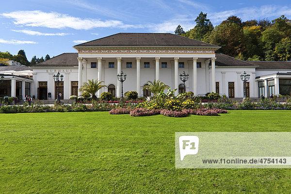 Kurhaus Baden-Baden  Schwarzwald  Baden-Württemberg  Deutschland  Europa