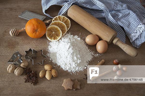 Küchenstillleben Backen Küchenstillleben Backen