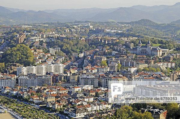 Übersicht  San Sebastian  Pais Vasco  Baskenland  Spanien  Europa