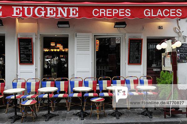 Cafe  Montmartre  Paris  Frankreich  Europa