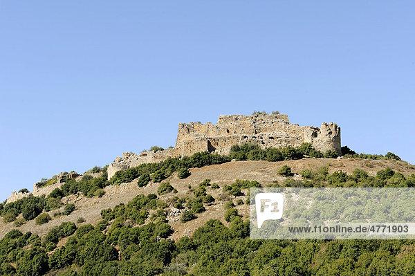 Arabische Festung Nimrod  arabisch Qala'at al-Subeiba  Golanhöhen  Hermongebirge  Israel  Naher Osten  Vorderasien
