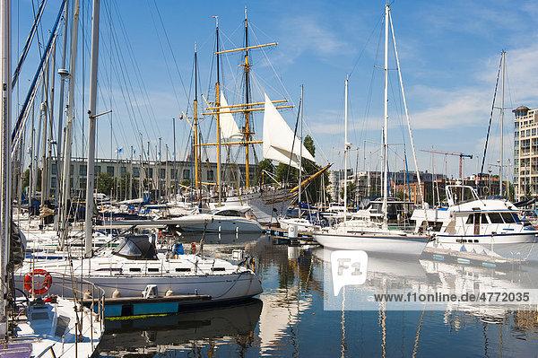 Ostende Jachthafen  Belgien  Europa