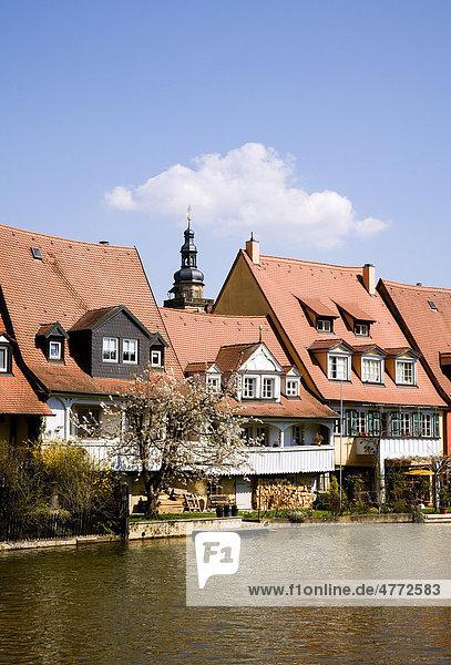 Klein Venedig an der Pegnitz in Bamberg  Bamberg  Franken  Bayern  Deutschland  Europa