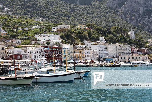 Hafen Marina Grande  Insel Capri  Italien  Europa