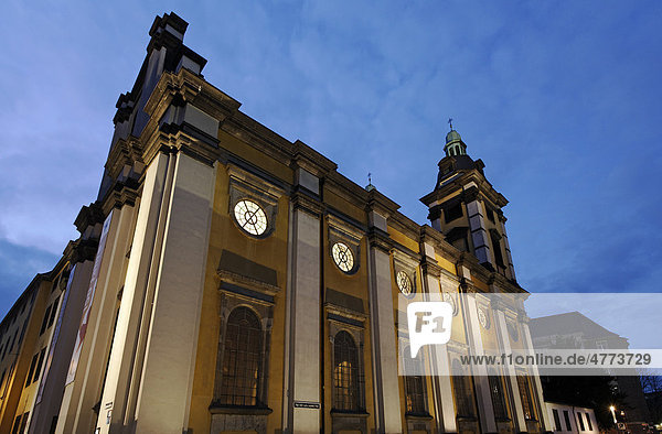 Baroque Andreaskirche church  historic district  Duesseldorf  North Rhine-Westphalia  Germany  Europe