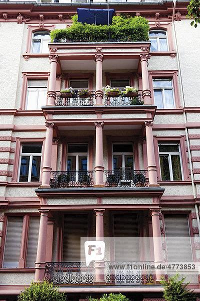 Gebäudefassaden Wiesbaden  Hessen  Deutschland  Europa