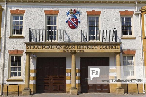 Stratford-upon-Avon District Council Bezirksrat  Elizabeth House Gebäude  Church Street  Stratford-upon-Avon  Grafschaft Warwickshire  England  Großbritannien  Europa