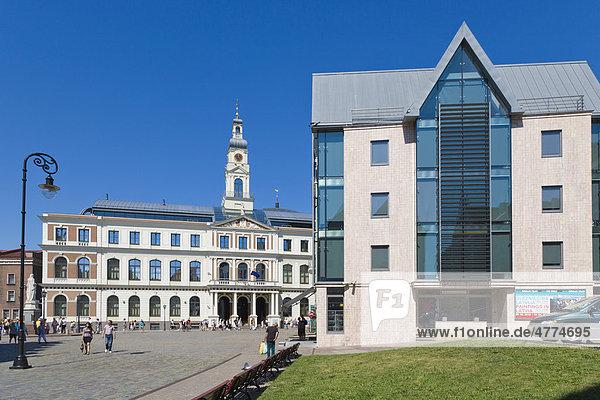 Stadtrat von Riga  Rigas Dome  Rathausplatz  Altstadt  Vecriga  Riga  Lettland  Nordeuropa
