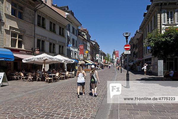 Die Altstadt von Morges,  Kanton Waadt,  Genfer See,  Schweiz,  Europa, Kanton Waadt