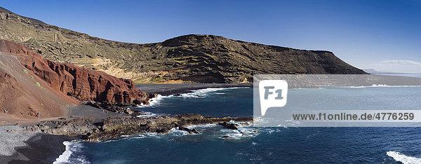 Felsenküste von El Golfo  Lanzarote  Kanarische Inseln  Spanien  Europa