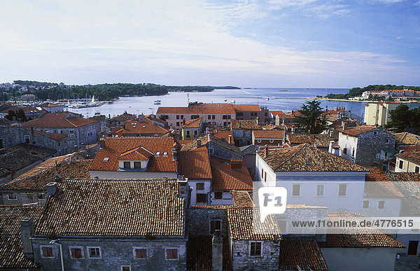View over the old town of Porec  Istria  Croatia  Europe
