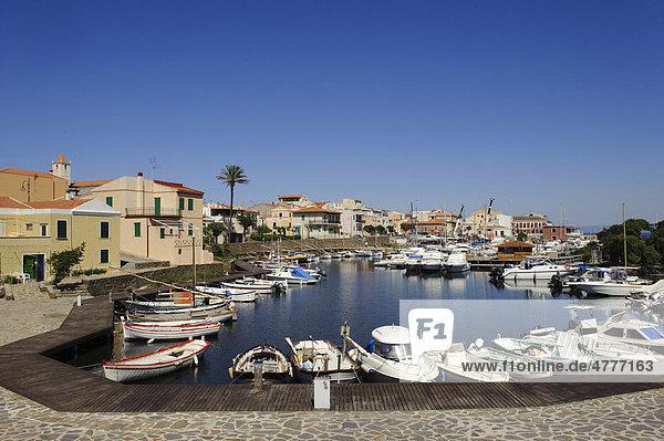 Fishing port of Stintino  Sassari Province  Northern Sardinia  Italy  Europe