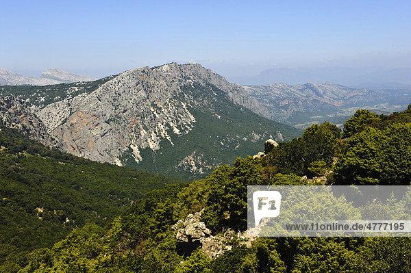 Berge beim Pass Genna Silana  Provinz Ogliastra  Ost-Sardinien  Italien  Europa