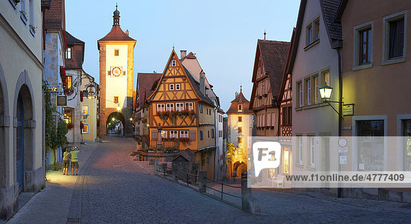 Rothenburg ob der Tauber  Bayern  Deutschland  Europa